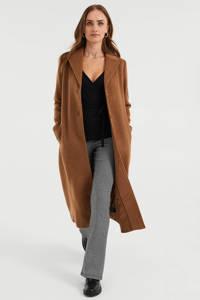 WE Fashion  coat met wol bruin, Bruin