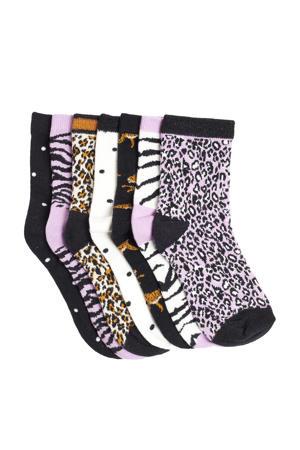 sokken - set van 7 lila/donkerblauw