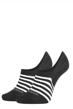 no-show sneakersokken - set van 2 zwart/wit