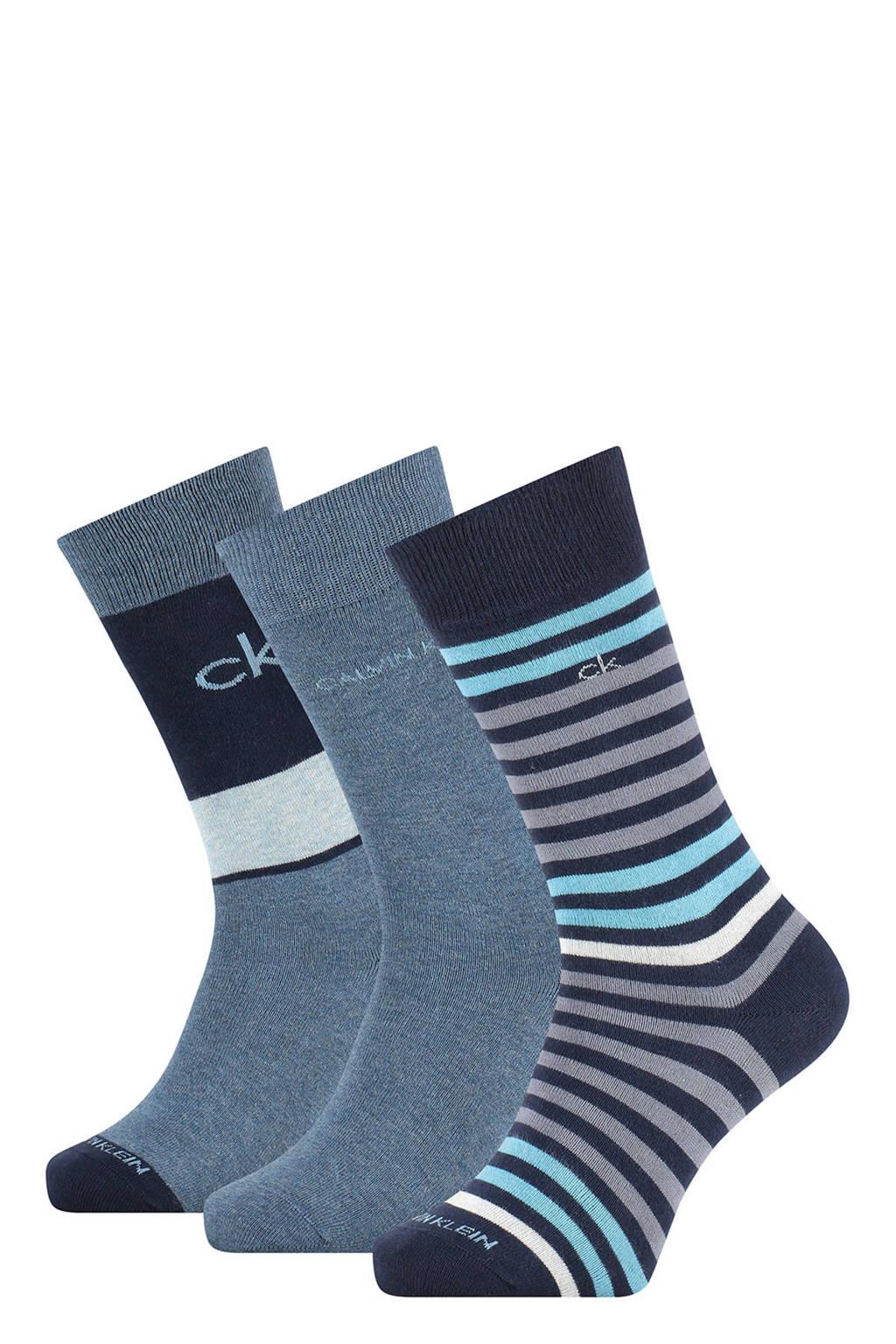 CALVIN KLEIN sokken - set van 3 donkerblauw, Donkerblauw