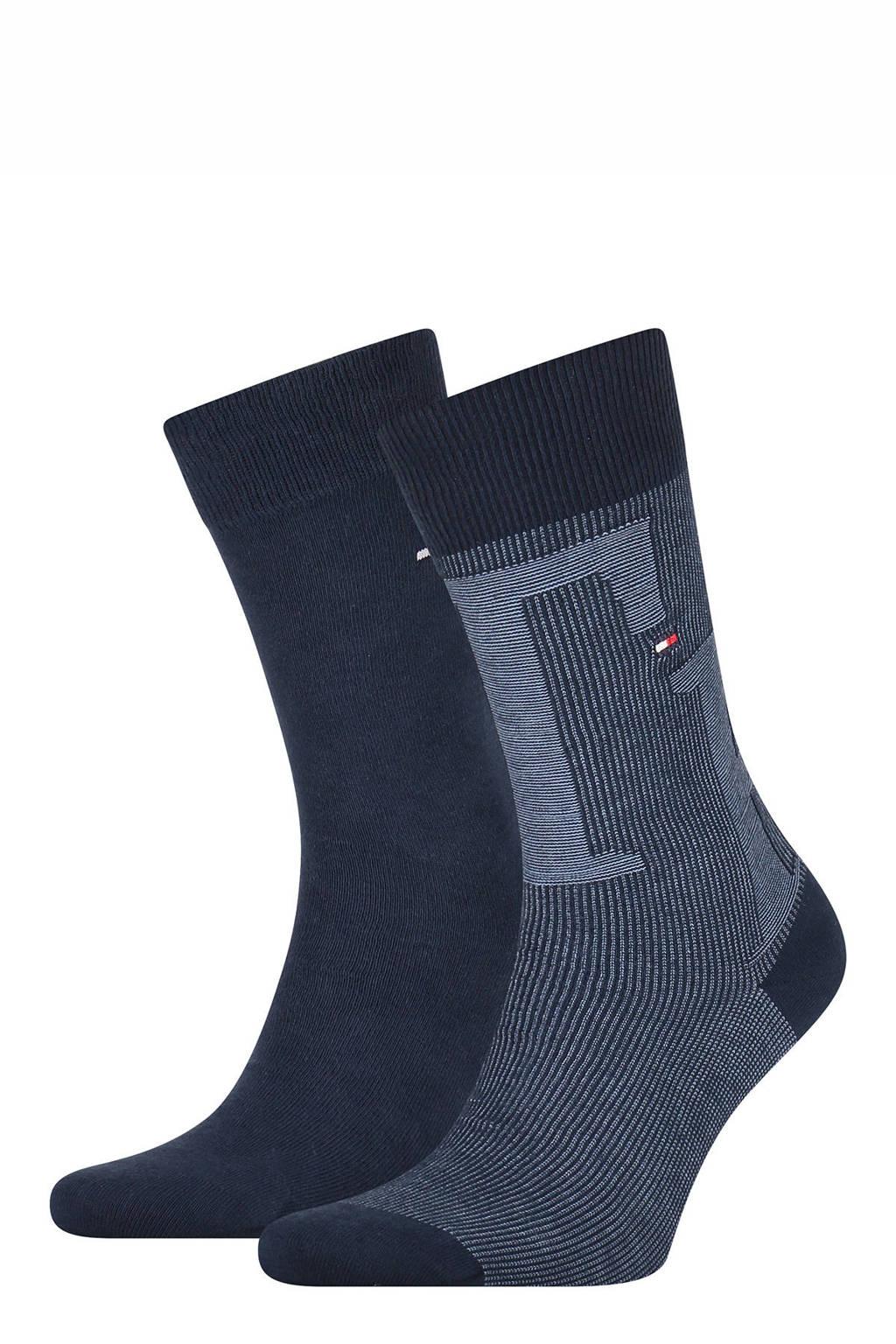 Tommy Hilfiger sokken - set van 2 donkerblauw, Donkerblauw