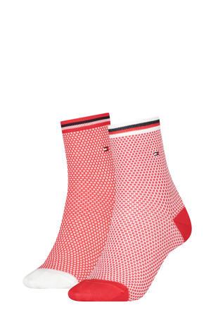 sokken rood/wit (set van 2)