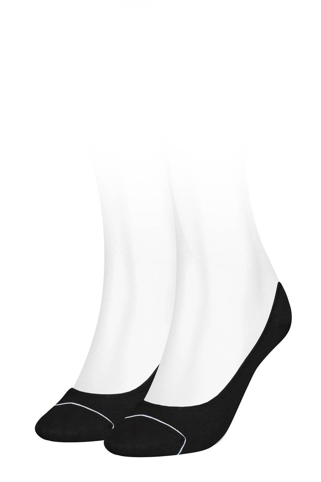 Puma no-show sneakersokken - set van 2 zwart, Zwart