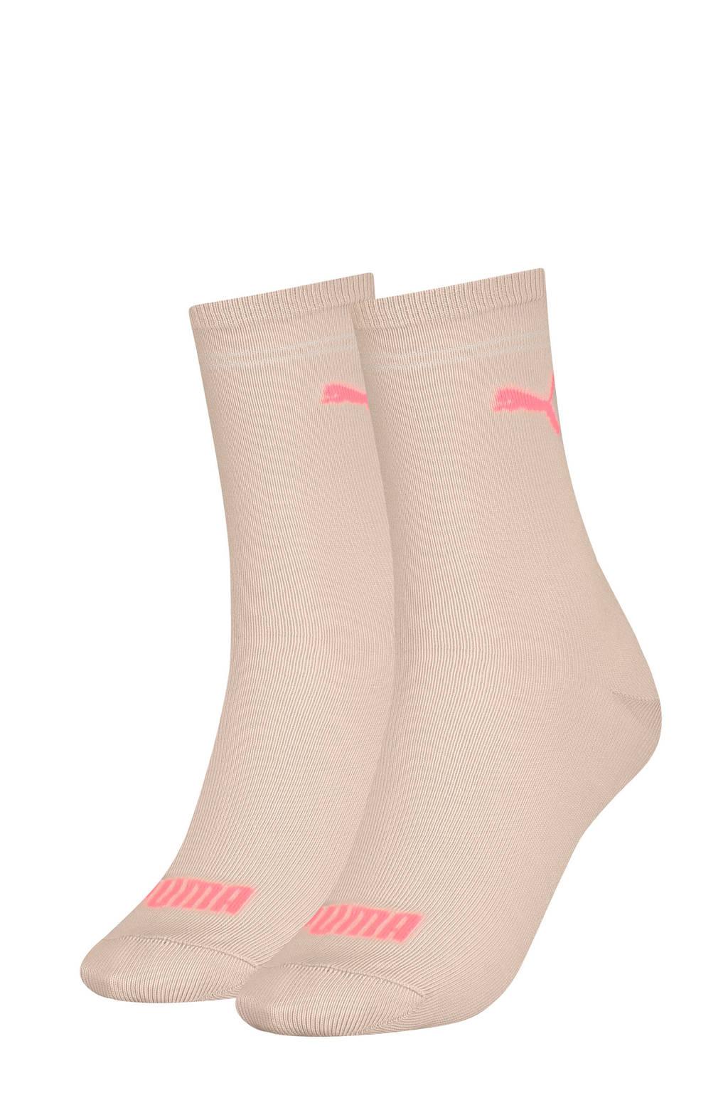 Puma sokken - set van 2 lichtroze, Lichtroze