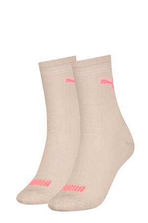 sokken - set van 2 lichtroze