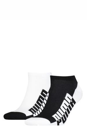 enkelsokken - set van 2 wit/zwart