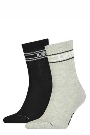 sokken - set van 2 zwart/grijs melange