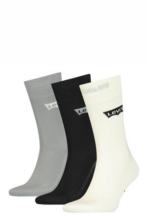 sokken - set van 3 grijs/zwart/wit