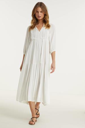 trapeze jurk wit