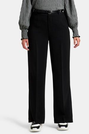 high waist loose fit broek Mikky zwart