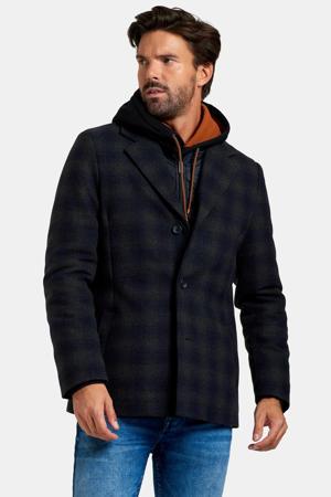 jas met wol Miro donkerblauw