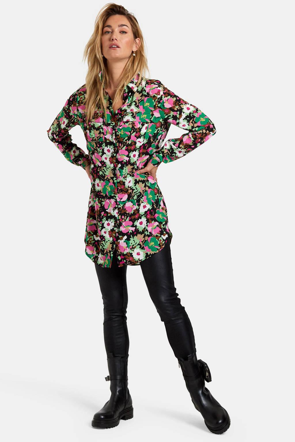 Eksept by Shoeby gebloemde blouse Vera groen/multi, Groen/multi
