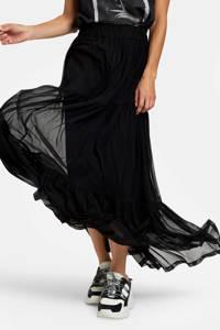 Eksept by Shoeby semi-transparante rok Charlie met mesh zwart, Zwart