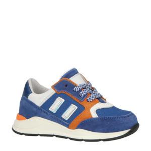 P1746  leren sneakers blauw