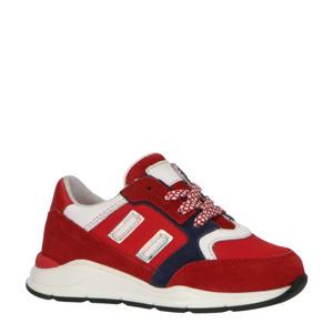 P1746  leren sneakers rood