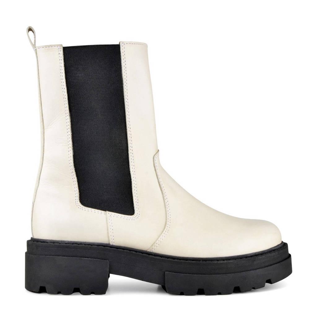 PS Poelman Loki  leren chelsea boots wit, Wit