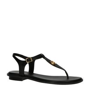Mallory Thong  leren sandalen zwart