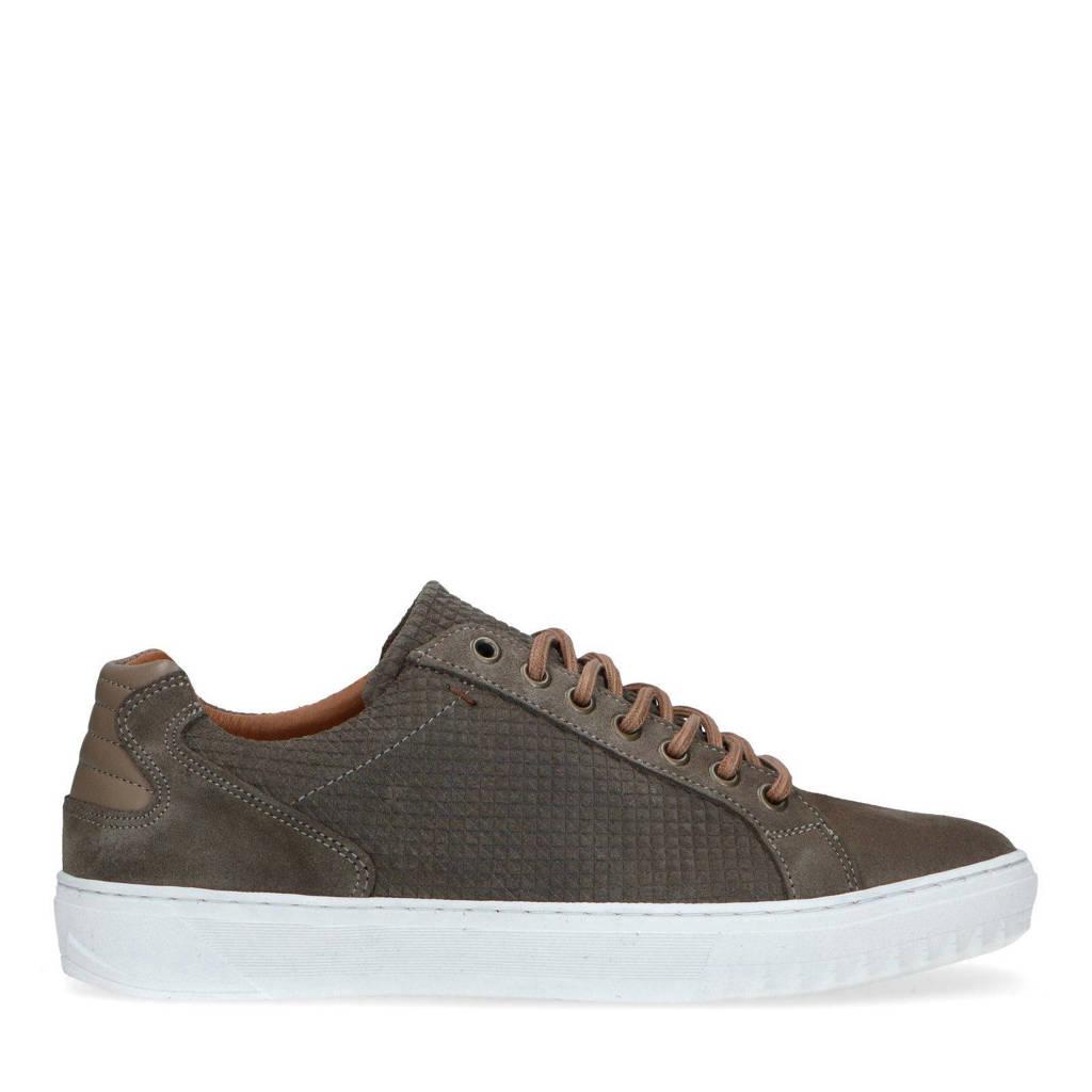 Manfield   suède sneakers bruin, Bruin