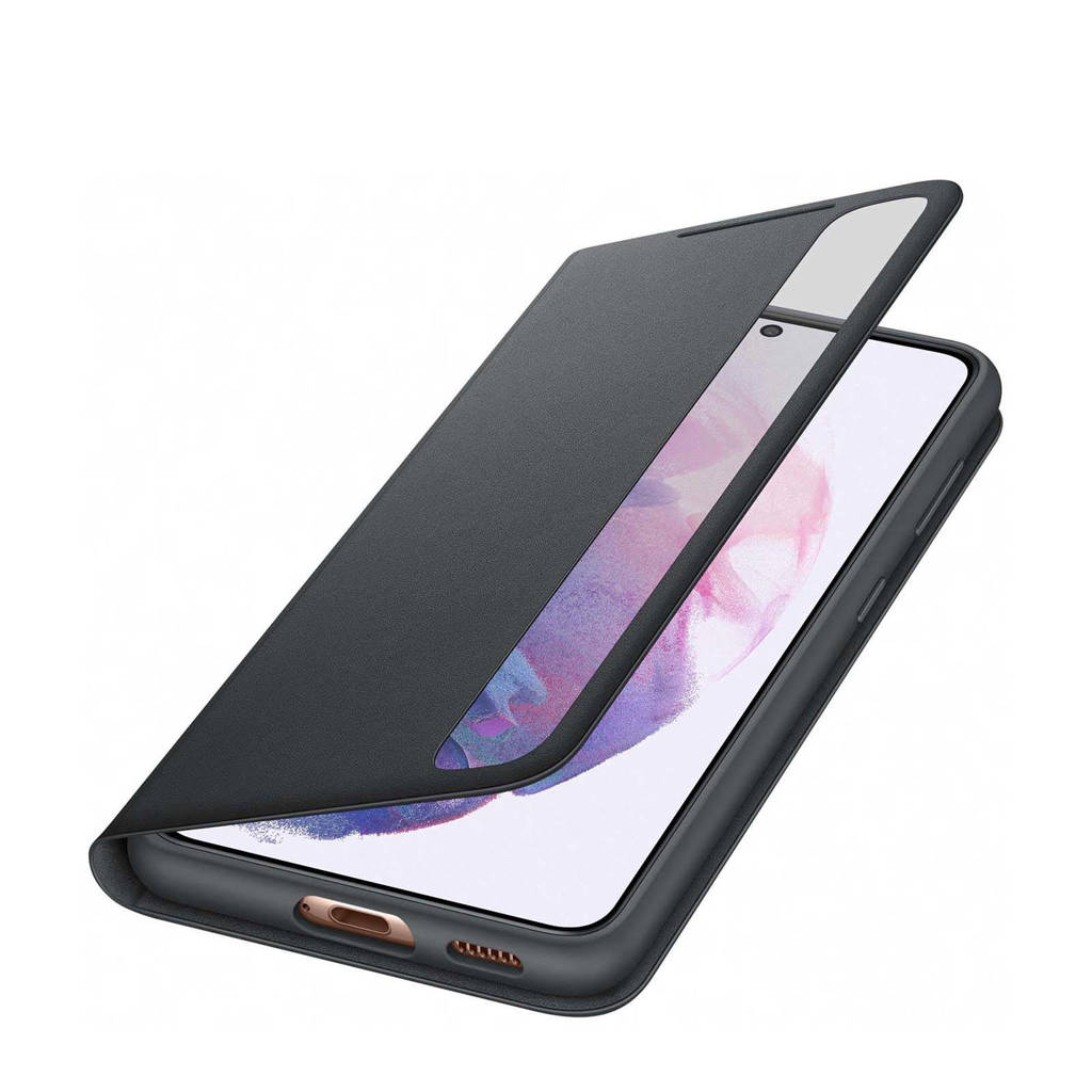 Samsung  telefoonhoesje S21 Smart Clear View (Phantom Black), Zwart