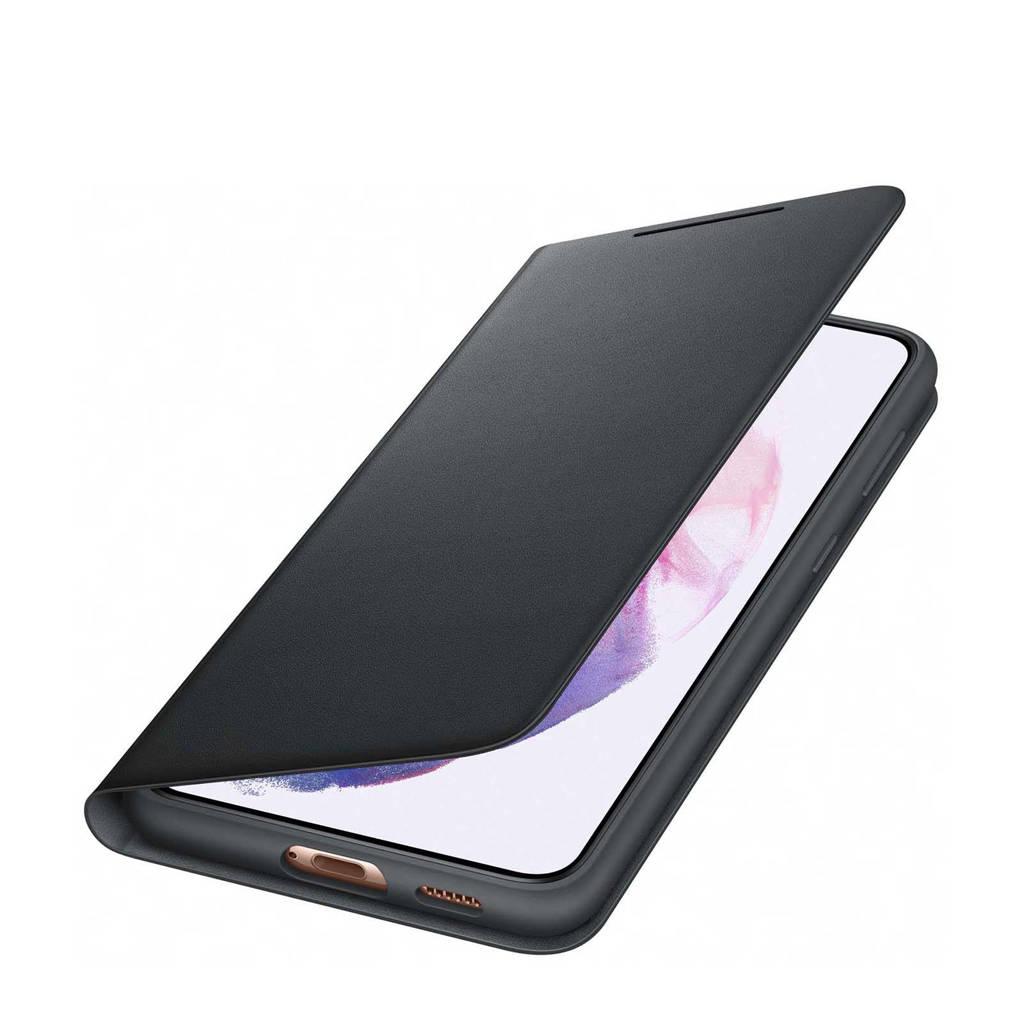 Samsung S21+ SMART LED V telefoonhoesje (Phantom Black), Zwart