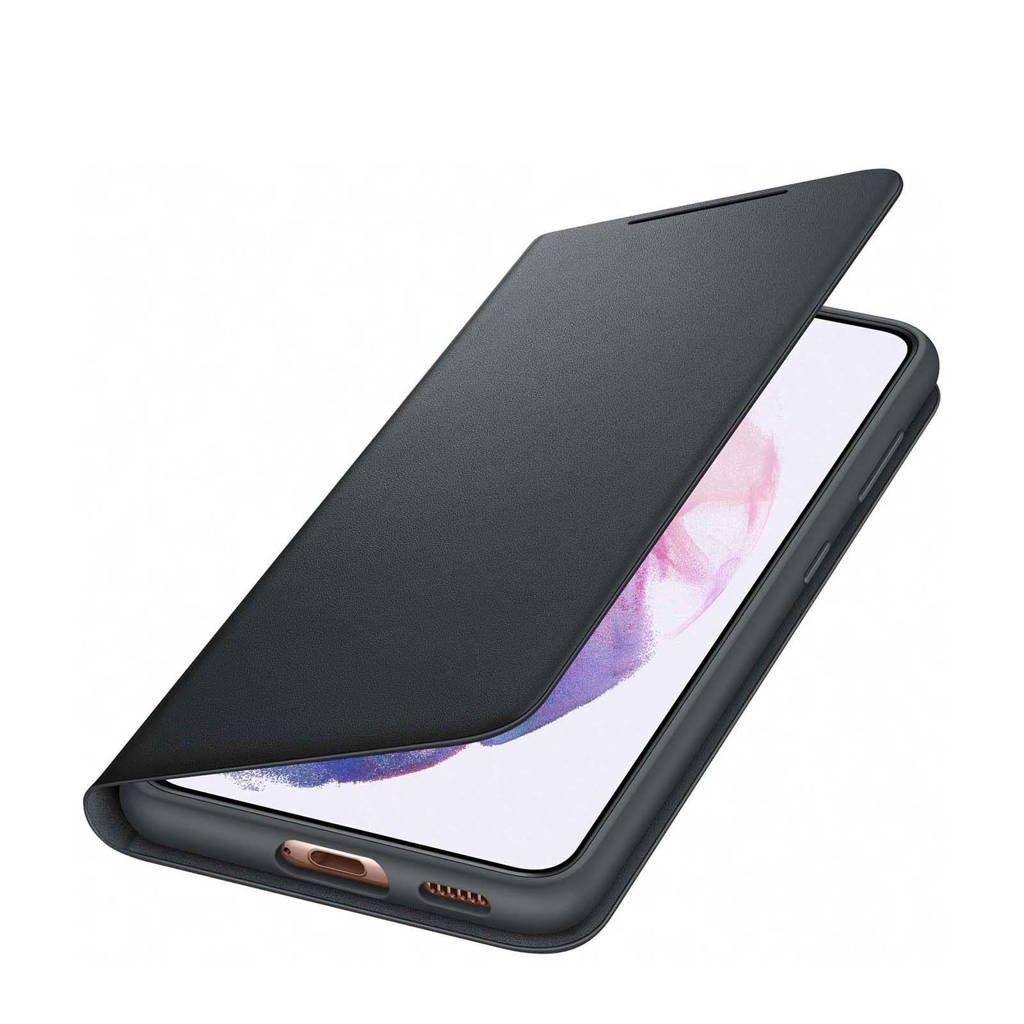 Samsung S21 SMART LED VI telefoonhoesje (Phantom Black), Zwart