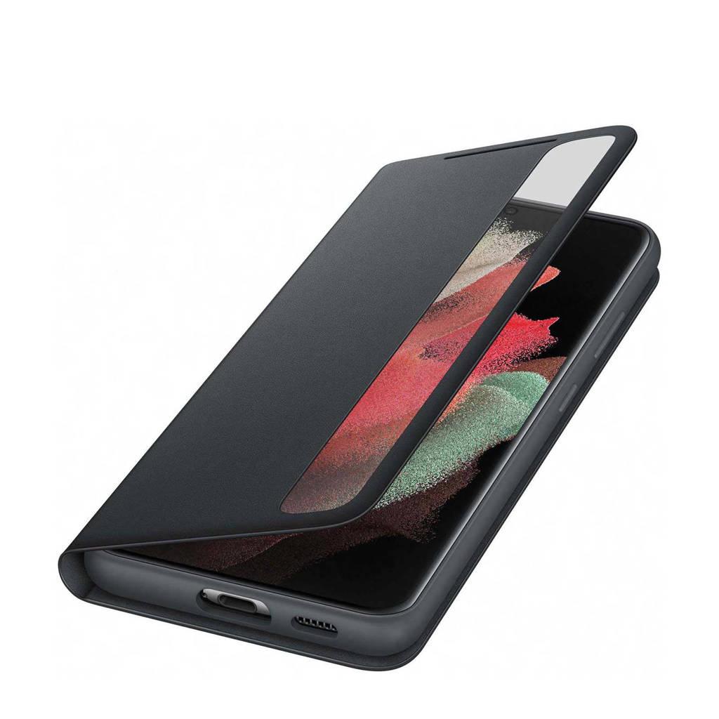 Samsung S21 ULTRA SMART telefoonhoesje Clear (Phantom Black), Zwart
