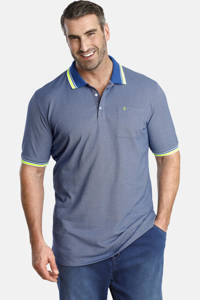 Charles Colby polo T-shirt EARL LANDON Plus Size blauw, Blauw