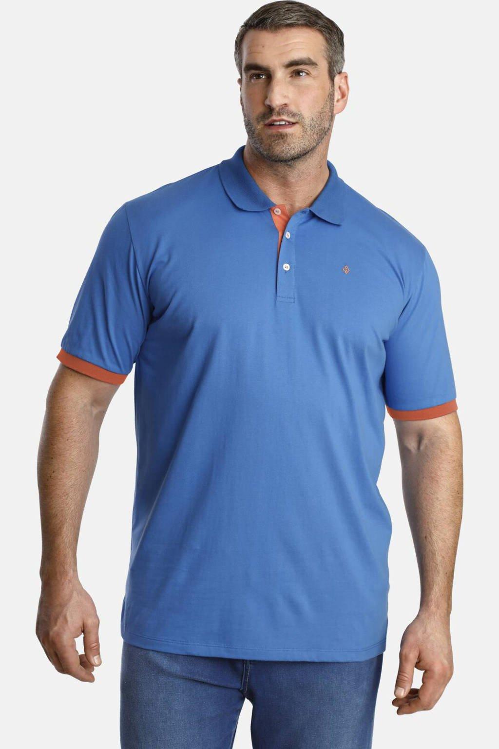 Charles Colby polo T-shirt EARL DERMOT Plus Size blauw, Blauw