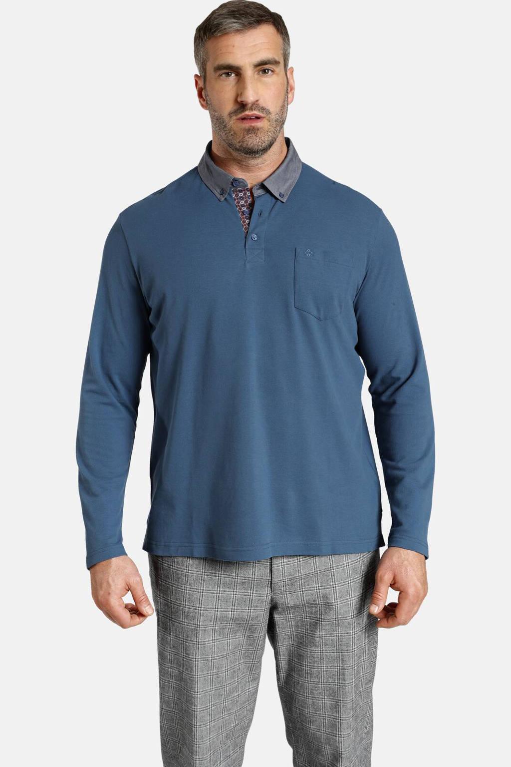 Charles Colby polo Duke BRENNAN Plus Size blauw, Blauw
