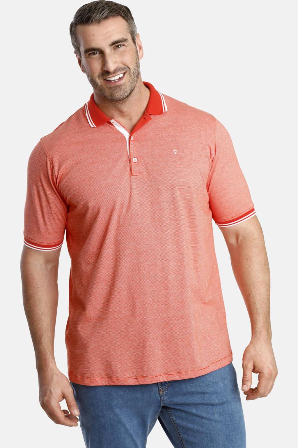 Charles Colby polo T-shirt Earl NICHOLAS Plus Size oranje, Oranje