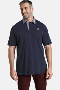 Charles Colby polo T-shirt EARL DOUGLAS Plus Size donkerblauw, Donkerblauw