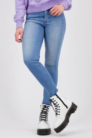 high waist super skinny jeans Blossom light blue stone