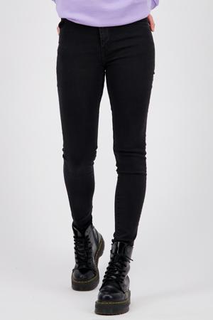 high waist super skinny jeans Blossom zwart