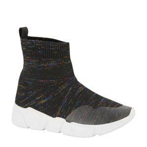 sock sneakers zwart/multi