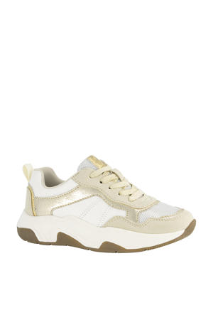 chunky sneakers goud/wit