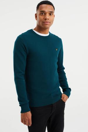 fijngebreide trui met textuur kale