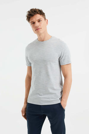 slim fit T-shirt met textuur Green Bay