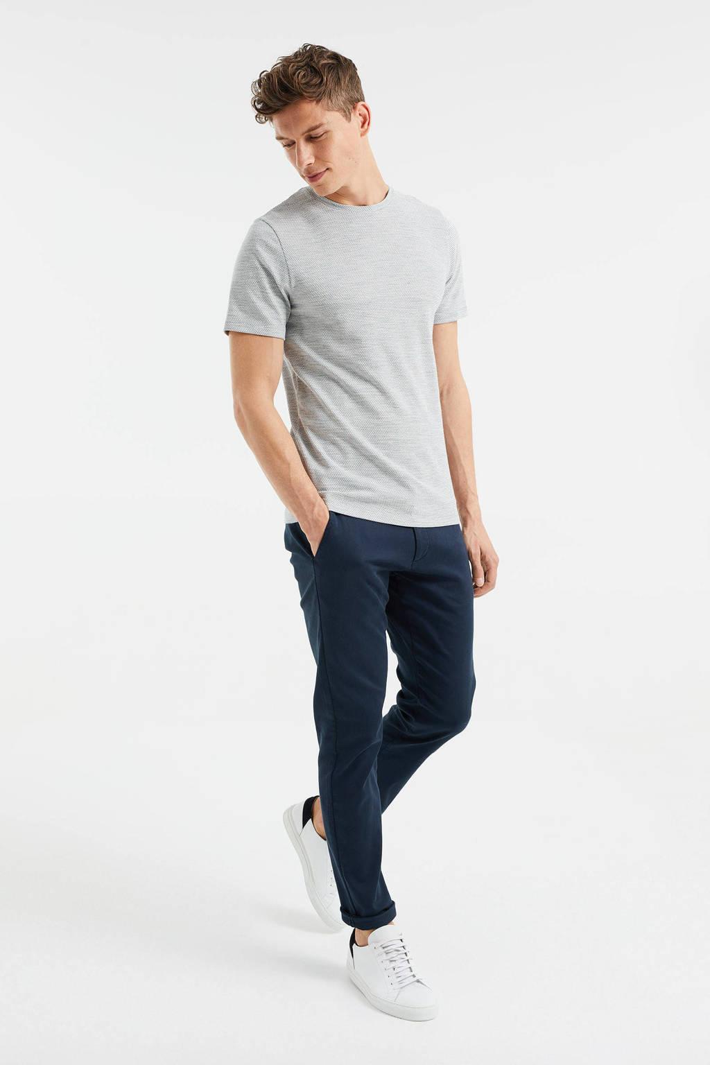 WE Fashion slim fit T-shirt met textuur Green Bay, green bay