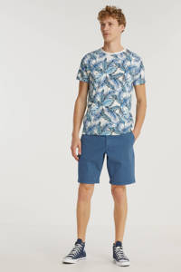 Cars T-shirt NEALL met all over print blauw/wit, Blauw/wit