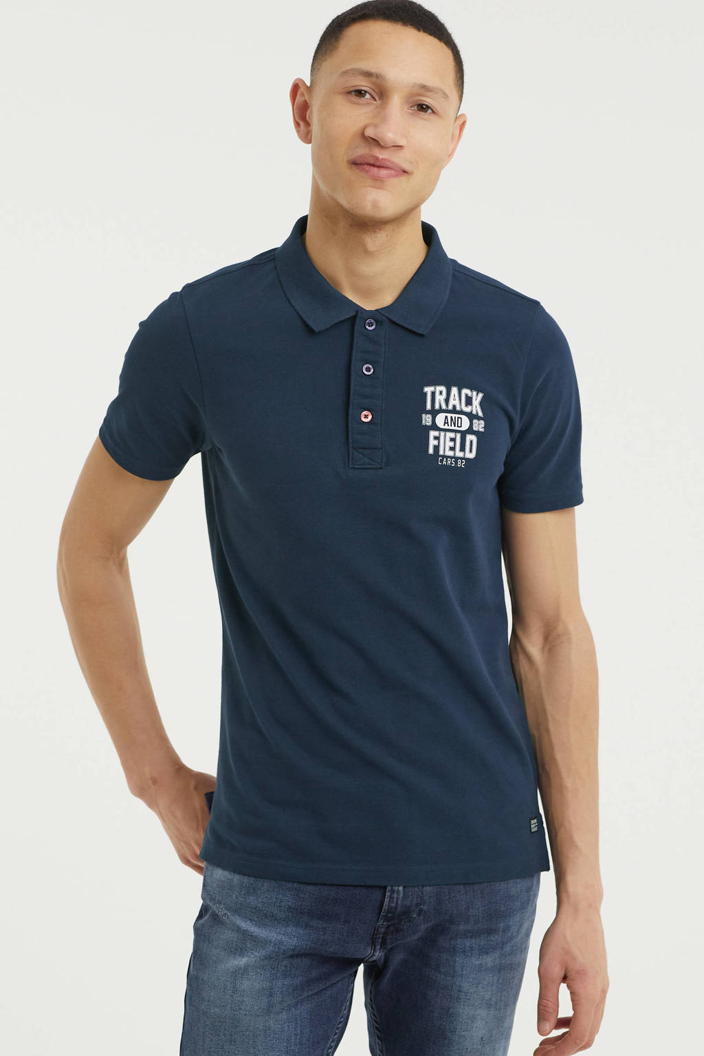Cars regular fit polo RALLYN donkerblauw, Donkerblauw