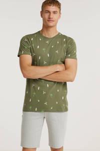 Cars T-shirt HONLY met all over print olijfgroen, Olijfgroen