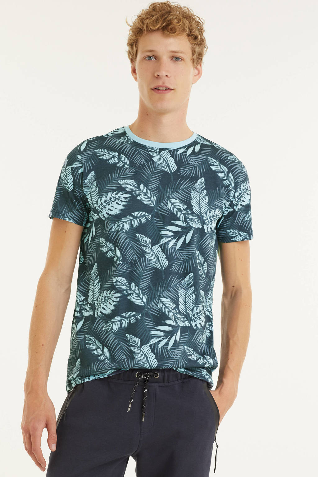 Cars T-shirt NEALL met all over print blauw, Blauw