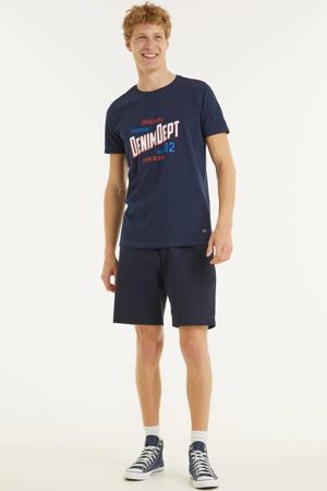 T-shirt KLOSE met logo donkerblauw