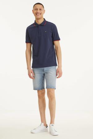 regular fit polo met contrastbies maritime blue