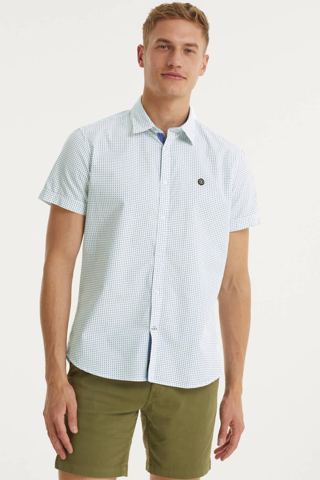 Twinlife regular fit overhemd met stippen wit, Wit