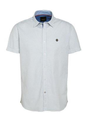 regular fit overhemd met stippen wit