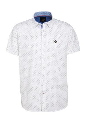 regular fit overhemd met all over print wit/rood