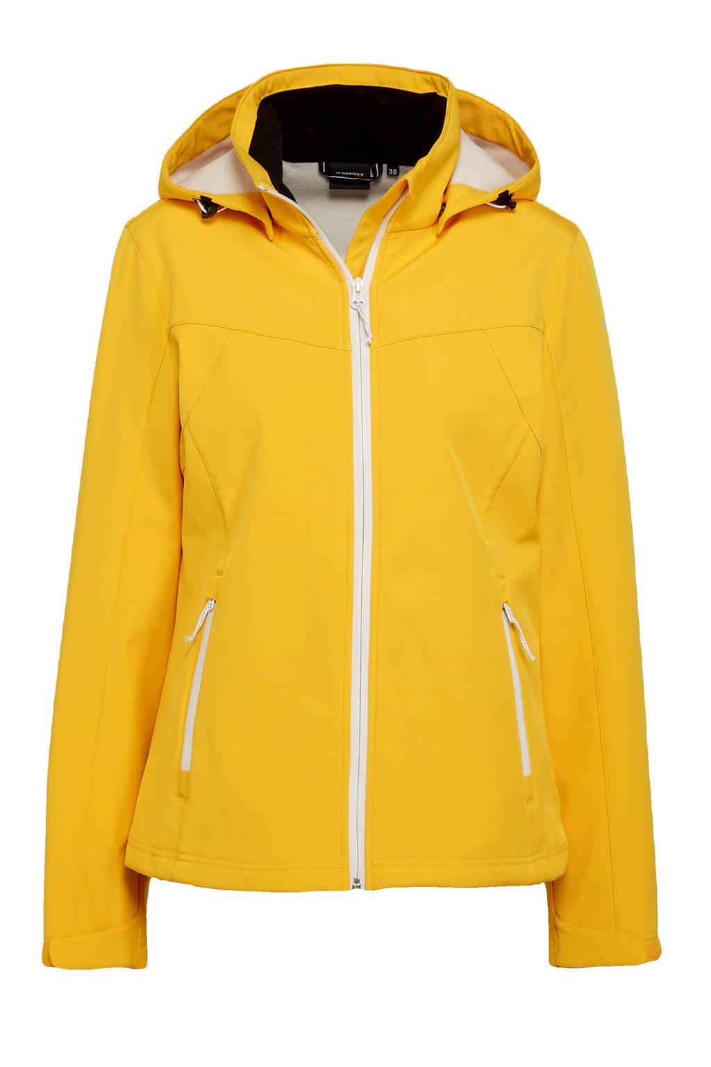 Icepeak softshell outdoor jas Brenham geel, Geel