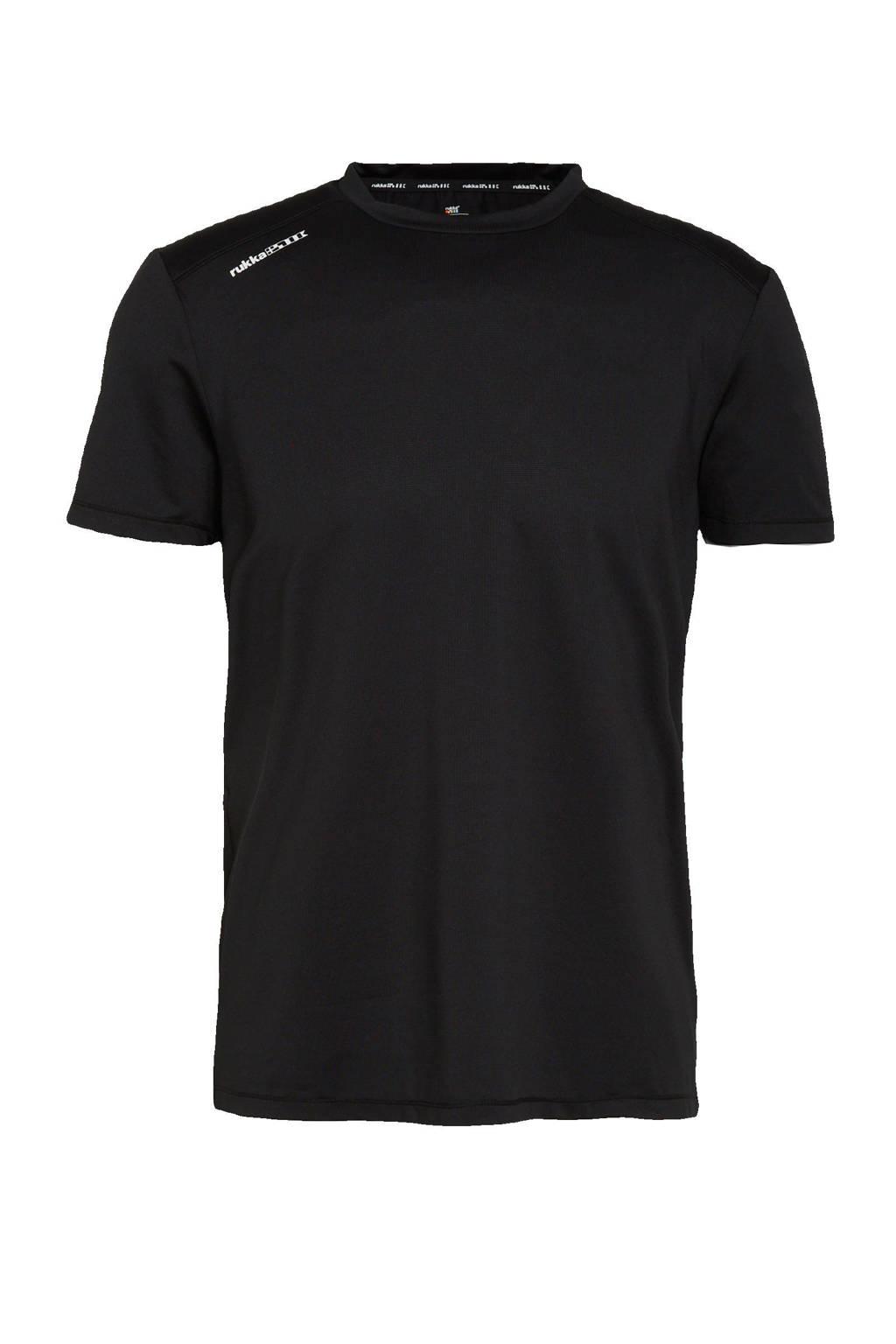Rukka   hardloop T-shirt zwart, Zwart