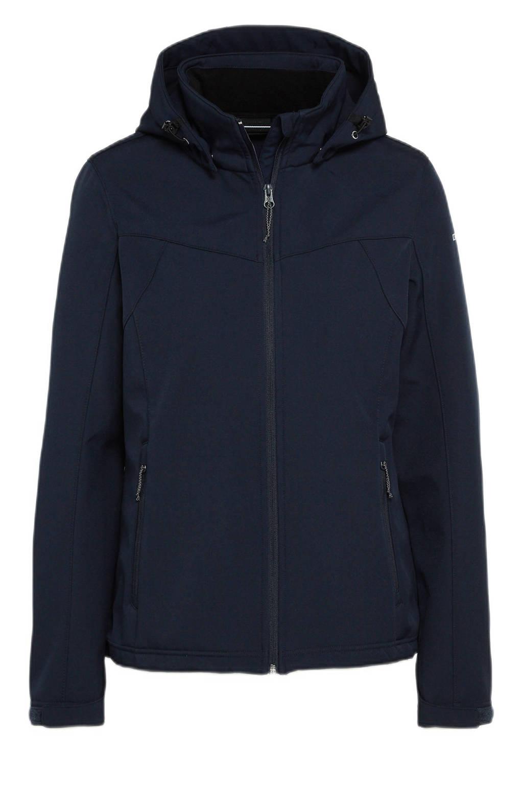 Icepeak softshell outdoor jas Brenham donkerblauw, Donkerblauw